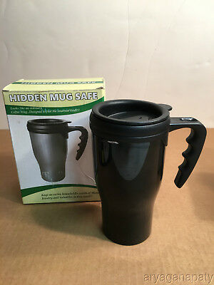 Plastic Coffee Mug Diversion Safe Hidden Home Security Secret Stash Compartment