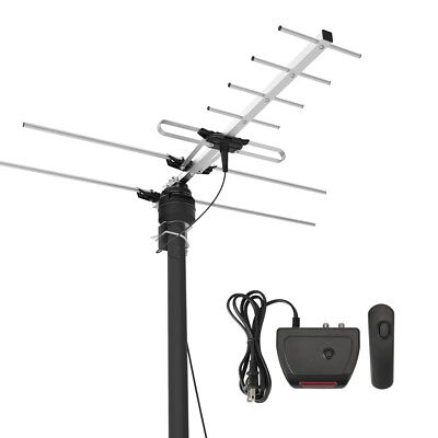 200Mile Reception Range Outdoor TV Antenna HDTV Digital Amplified Attic/Roof