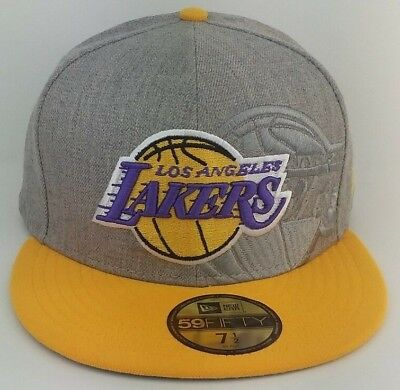 564cd467d1aab5 NEW ERA NBA L.A Lakers 5950 Purple Fitted Hat Team Archive Logo all ...