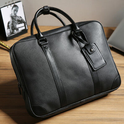 Men s Business Briefcase Leather Handbag Laptop Computer Bag Cases Tote  Hobo Bag 7fdc236ac3e8c