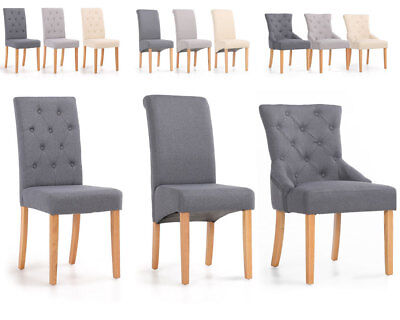 Super Premium Leather Fabric Dining Chair Solid Oak Legs Roll Bralicious Painted Fabric Chair Ideas Braliciousco