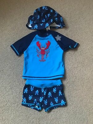 F&F Age 3-6 Swimming Set With Hat - Brand New