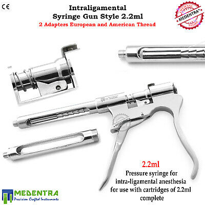 Dentists Intraligamental Syringes 2.2ml Gun Style Anesthesia Intraligamentary CE