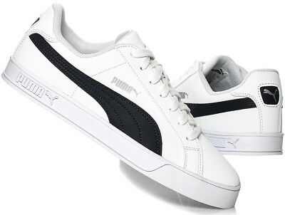 the latest 56c51 6b318 Puma Hommes Smash Vulc Baskets en Cuir 359622-10 Blanc   Caban