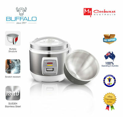 Buffalo  Enco 2.0 Stainless Steel Rice Cooker (1-6cups)