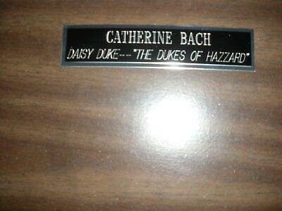 Catherine Bach (Dukes Of Hazzard) Engraved Nameplate For Photo/display/poster