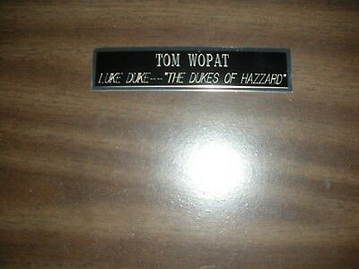 Tom Wopat (Dukes Of Hazzard) Engraved Nameplate For Photo/display/poster