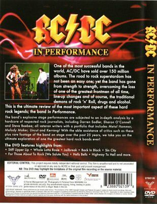 """"""" AC/DC In Performance """" DVD Brand New Sealed   ONLY £4.95 & FREE UK DELIVERY"""
