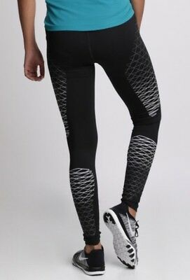 799f3ba15dc1c Women's Nike Power Racer Fast Reflective Leggings Running Gym Size Extra  Small