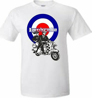 d04a54d5 Adults And Kids Ska Mods Lambretta Bullseye Fun T Shirt Sizes Xs To Xxl
