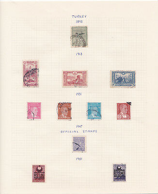 Turkey stamp collection on album pages