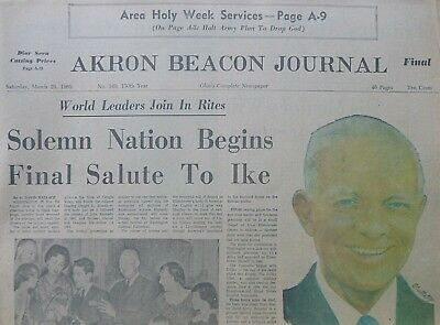 DWIGHT EISENHOWER RITES SOLEMN NATION BEGINS FINAL SALUTE TO IKE March 29 1969
