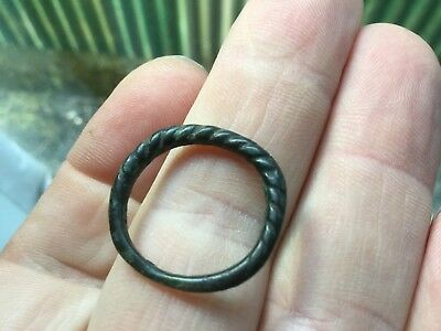 Good Wearable Medieval Bronze Spiral Ring