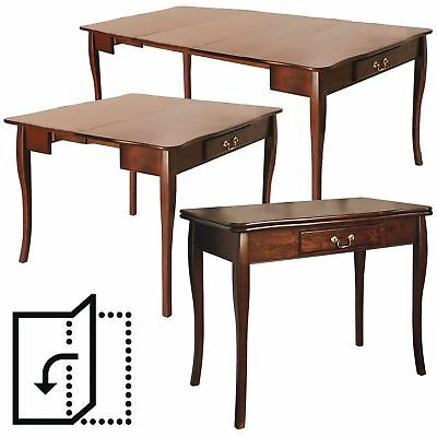 Expanding Dining Table 2 Chairs Extending Folding Console Side Hallway Unit