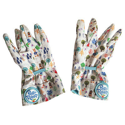 Peter Rabbit Kids Gardening Gloves. Childrens Cotton Garden Gloves. 3/4 & 5/6yrs