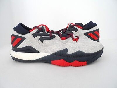 000ae51319b5 adidas Men s Crazylight Boost Low 2016 Basketball Shoe White Scarlet Navy 11