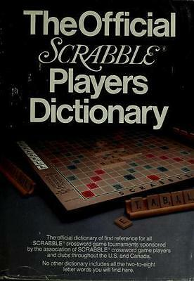 Official Scrabble Players Dictionary by Selchow Righter Company-ExLibrary