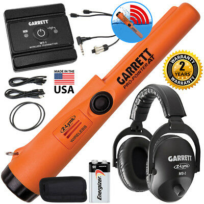 Garrett Pro Pointer AT Z-Lynk Pinpointer with MS-3 Wireless Headphones PACK