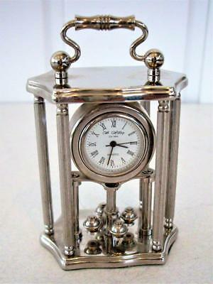 Little 6-Piller Quartz Mantel Clock - Working