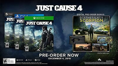 Just Cause 4 DLC KEY CODE (Deathstalker Scorpion Pack) PS4 XBOX ONE STEAM