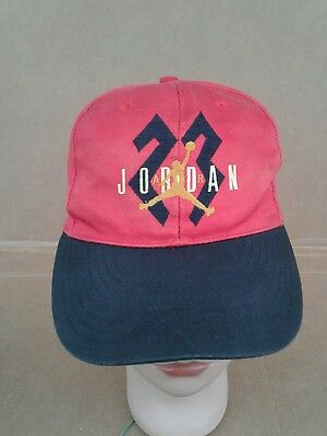 VTG 90 S Nike Air Jordan  23 Youth Snapback Hat Cap Jumpman Logo Michael MJ  GUC bb6a1d55d7f9