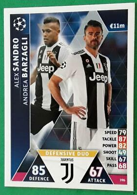 Topps Match Attax Champions League 2018-2019 Karte Nr.396 Alex Sandro Andrea ...