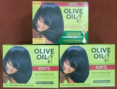 3 x ORS Original Root Stimulator Olive Oil Hair Relaxer No Lye EXTRA STRENGTH