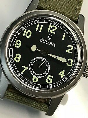 Military style Bulova quartz.  Running and ready to wear