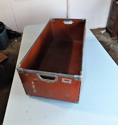 Vintage NVF National Vulcanized Fiber Mail / File Carrier / Bin / Tub, Large