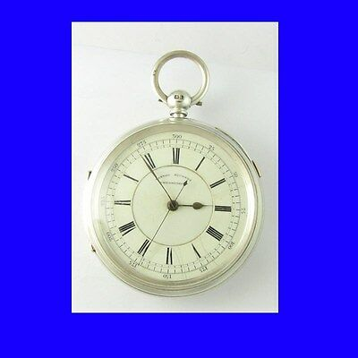Stunning Liverpool Silver Fusee Centre Sec's Chronograph Pocket Watch 1894