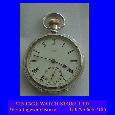 Edwardian Silver Post Fusee  Lisle of Exeter 16 Jewelled Pocket Watch 1907