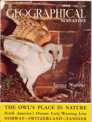 the geographical magazine-APR 1957-BARN OWL.