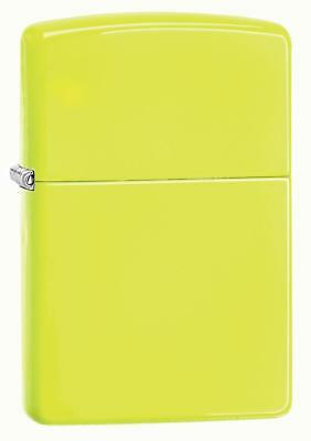 "Zippo 28887, ""Neon Yellow"" Finish Lighter, Full Size"