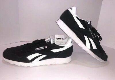 00409738297 Reebok Classic Nylon 6604 Black white Men Us Sz 10 Brand New No Box Free