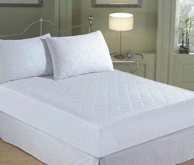 Quilted Extra Deep 30cm Mattress Protector Hollowfibre Polyester Filling