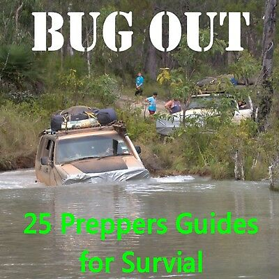 Bug Out Preppers Guide Books on CD SurvivalWilderness Holidays Camping Doomsday