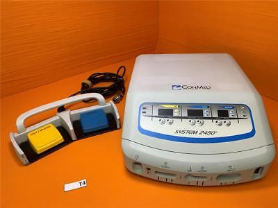 CONMED System 2450 ESU Electrosurgical Generator With Footswitch