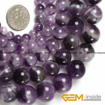 Round Dream Lace Color Amethysts Beads Natural Stone Beads DIY Loose Beads For J
