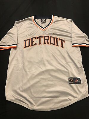 a5b86ee03f5 Cecil Fielder Detroit Tigers Road Gray Jersey Throwback Mens XL Brand New