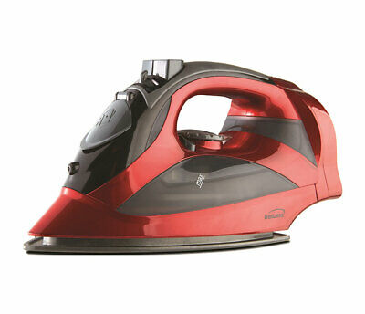 BRAND NEW Brentwood MPI-59R Non-Stick Steam Iron with Retractable Cord, Red