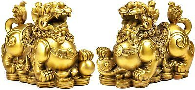3pcs Golden Fortune Lucky Money Toad/Frog with Coin Feng Shui Charm 三足金蟾背背北斗七星