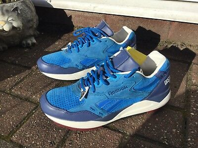 Reebok X Distinct Life Bolton Shoes Hong Kong Edition Bludshot Blue Leather  Uk 6 85476fa2d