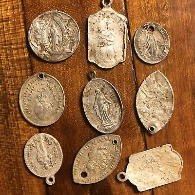 Old Antique Vintage Russian Orthodox Aluminium Artifacts Christian Pendant Charm