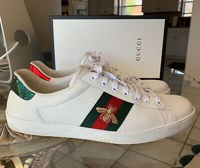 5f3a6d83c65 NEW GUCCI ACE Gg Supreme Low Top Sneakers Logo Lace-Up Casual Shoes ...