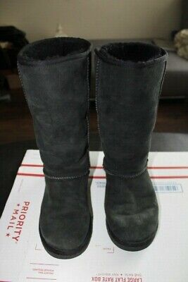 6fc43b0f17e UGG CLASSIC TALL Camel Tan Sheep SUEDE BOOTS SHEARLING LINED #5815 ...