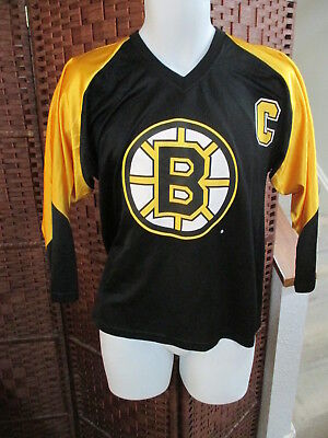 VINTAGE CCM NHL Boston Bruins Black Jersey Size Youth L xl -  34.99 ... 3eb4193b8