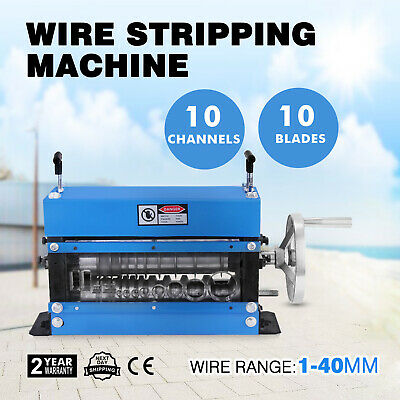 Manual Wire Stripping Machine 40mm 10 blades Stripper Adjustable Metal Cable