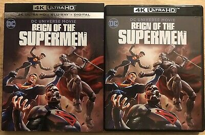 Dc Universe Movie Reign Of The Superman 4K Ultra Hd + Blu Ray With Slipcover