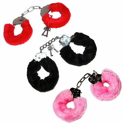 Fluffy Handcuffs Toy Hand Cuffs Hens Night Police Party Costume Kid