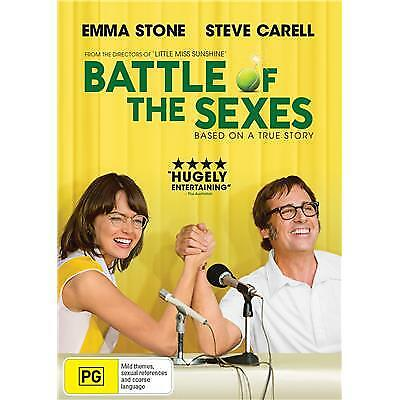 Battle of the Sexes DVD 2018 PG / Buy 4 or more DVD's = We Refund Postage